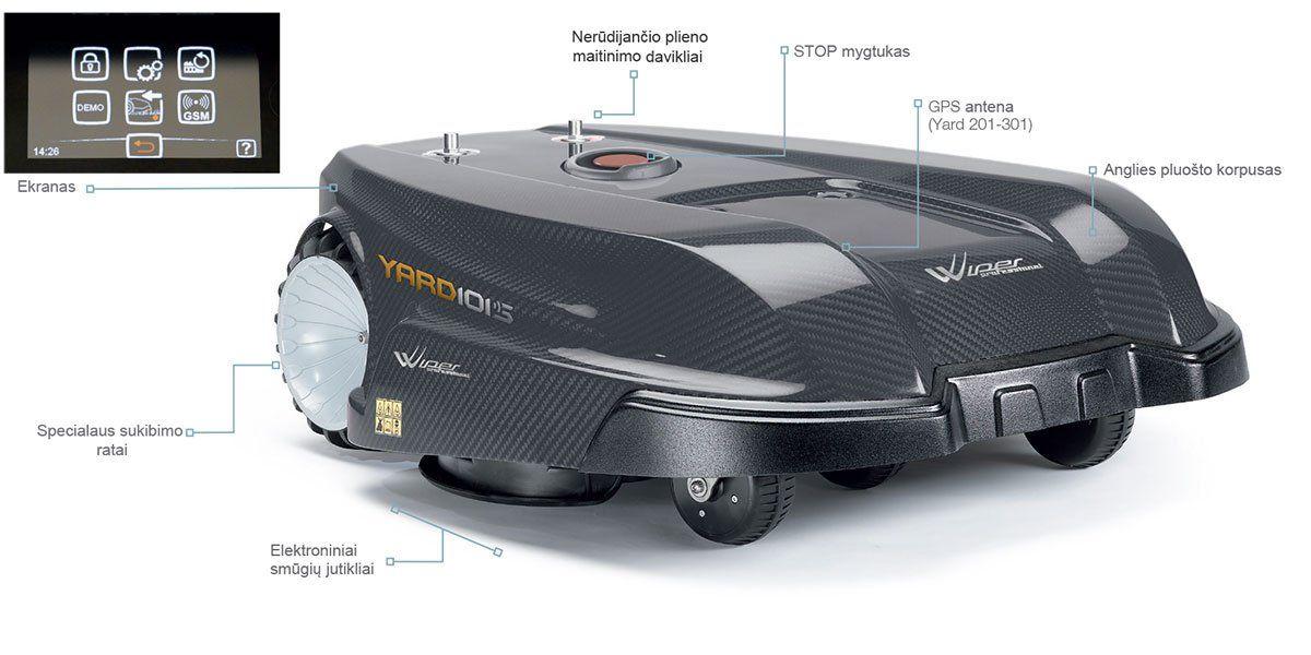 Wiper profesional YARD serijos vejos robotai
