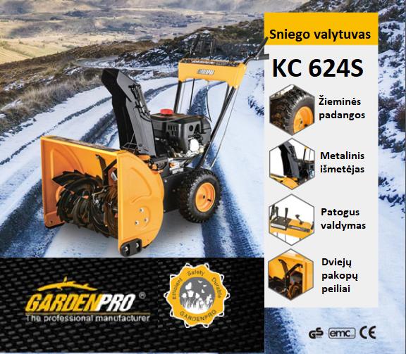 GardenPro KC624 Sniego valytuvas