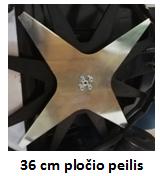 pjovimo plotis 36 cm